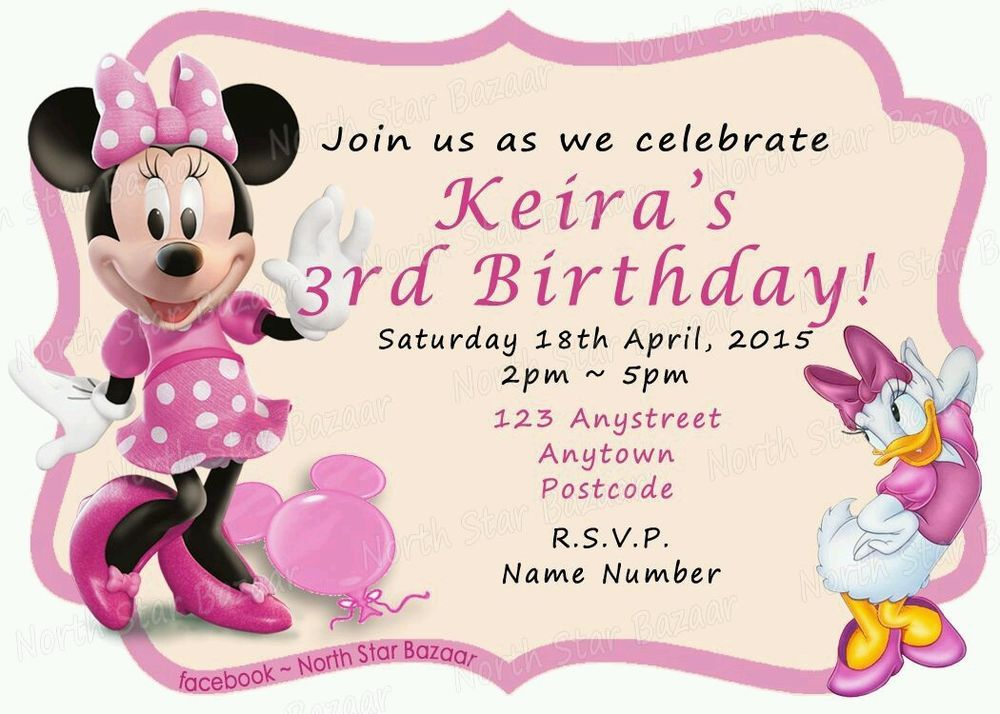 Magnetic birthday invitations minnie mouse pack of 24 kids party magnetic birthday invitations minnie mouse pack of 24 kids party filmwisefo Choice Image