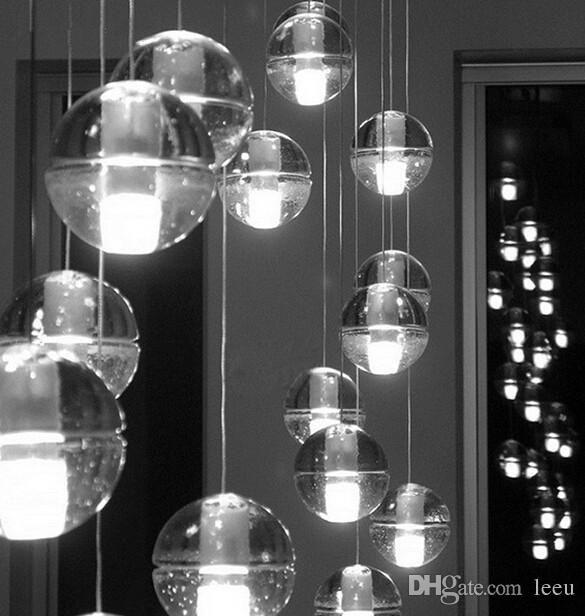 finden sie die besten weihnachten led kristall glas kugel h ngeleuchte meteor regen. Black Bedroom Furniture Sets. Home Design Ideas