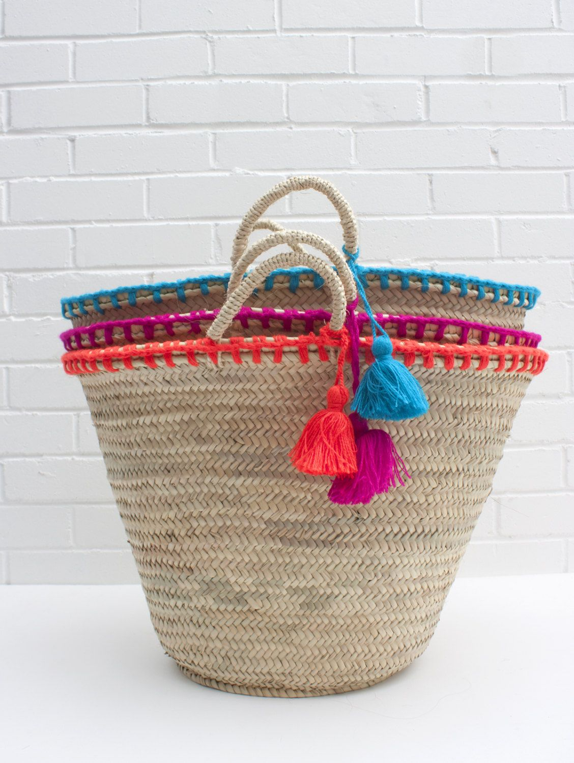 Mexicana Market Basket by LoveBohemians on Etsy