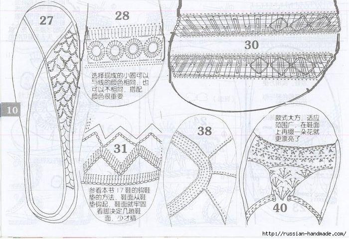 вязаная крючком летняя обувь схемы 14 700x481 287kb вязаная