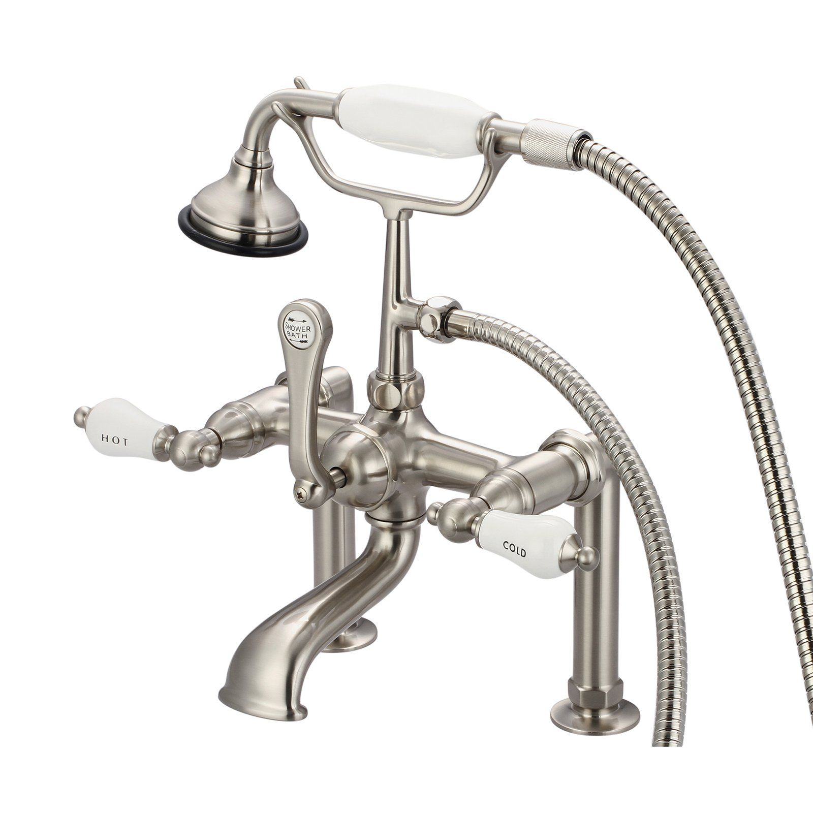 Water Creation Vintage Classic F6 0006 Deck Mount Tub Faucet And