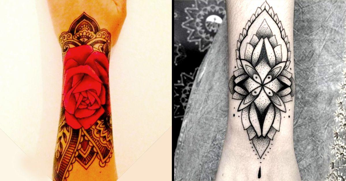 Intricate Wrist Cuff Henna Tattoo Stencil: Tattoo Style To Love: Paisley And Mehndi Wrist Cuff