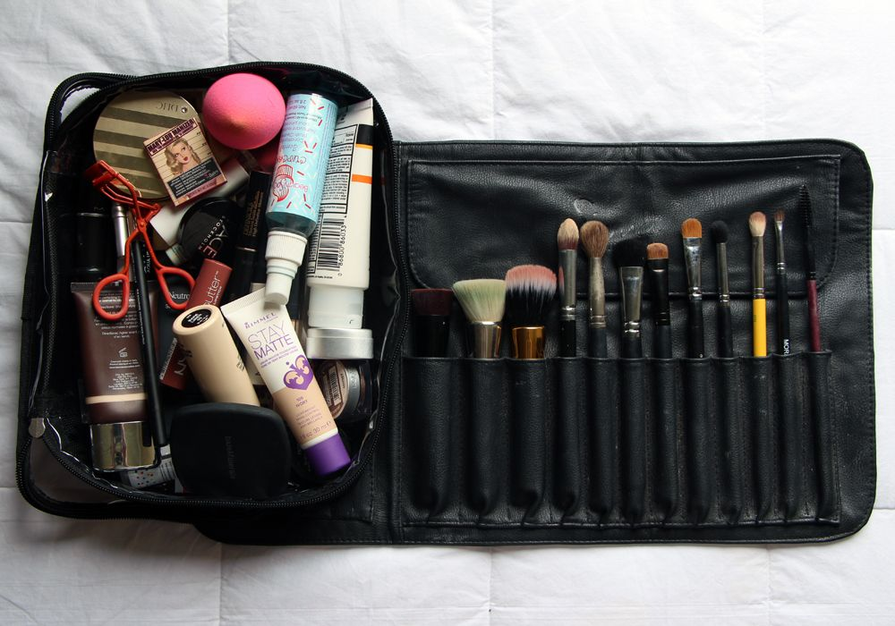 What's In My Travel Makeup Bag Brush Roll Zuca Utility
