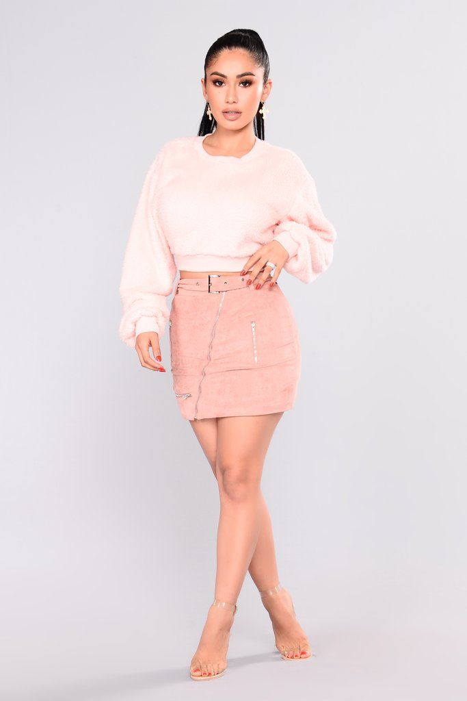 f9dbbad5578eb6 Snow Bunny Fuzzy Sweater - Light Pink   Cute Outfits   Snow bunnies ...