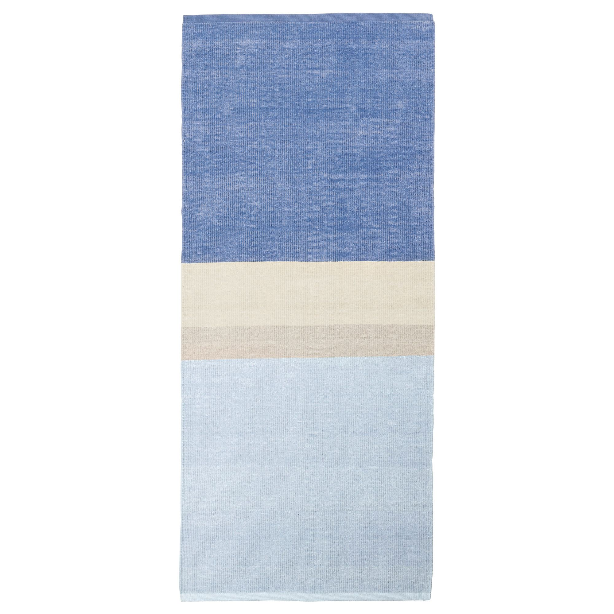 RENATE Rug, low pile - blue - IKEA On either side of our bed ...