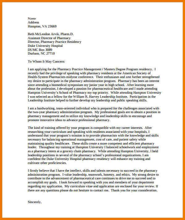 Letter Of Intent For Graduate School template Pinterest School