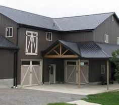 Barn Exteriors With Metal Siding Red And Grey Google Search Barn Style House Metal Building Homes Metal Buildings