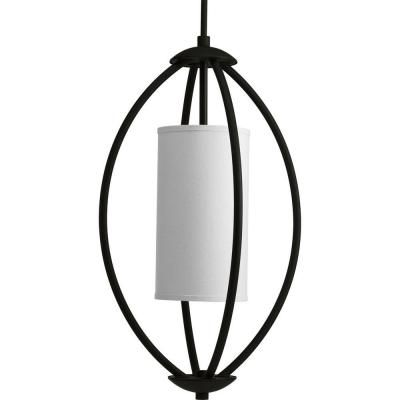 Progress Lighting Calven Collection 2 Light Forged Black Foyer Pendant P3937 80