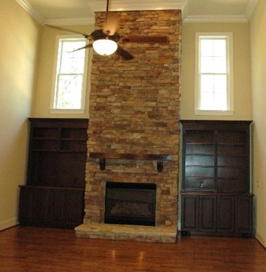 Stone Built Fireplaces stacked stone fireplace | story stacked stone fireplace with built
