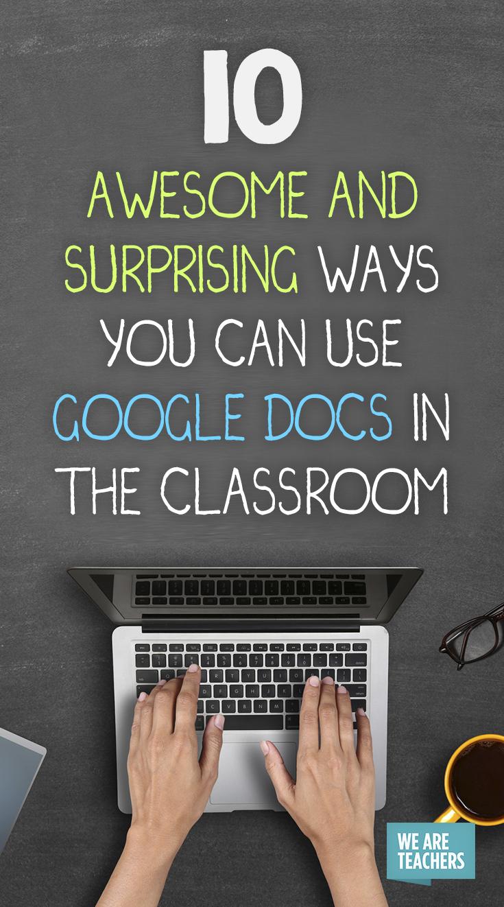 10 Ways to Use Google Docs in the Classroom | Google docs, Google ...
