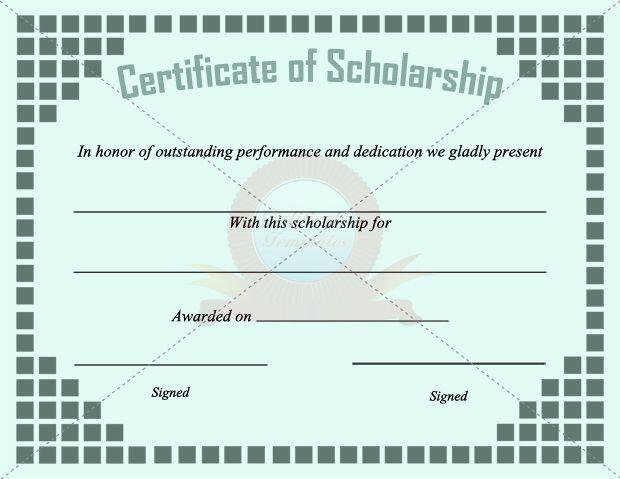 scholarship templates