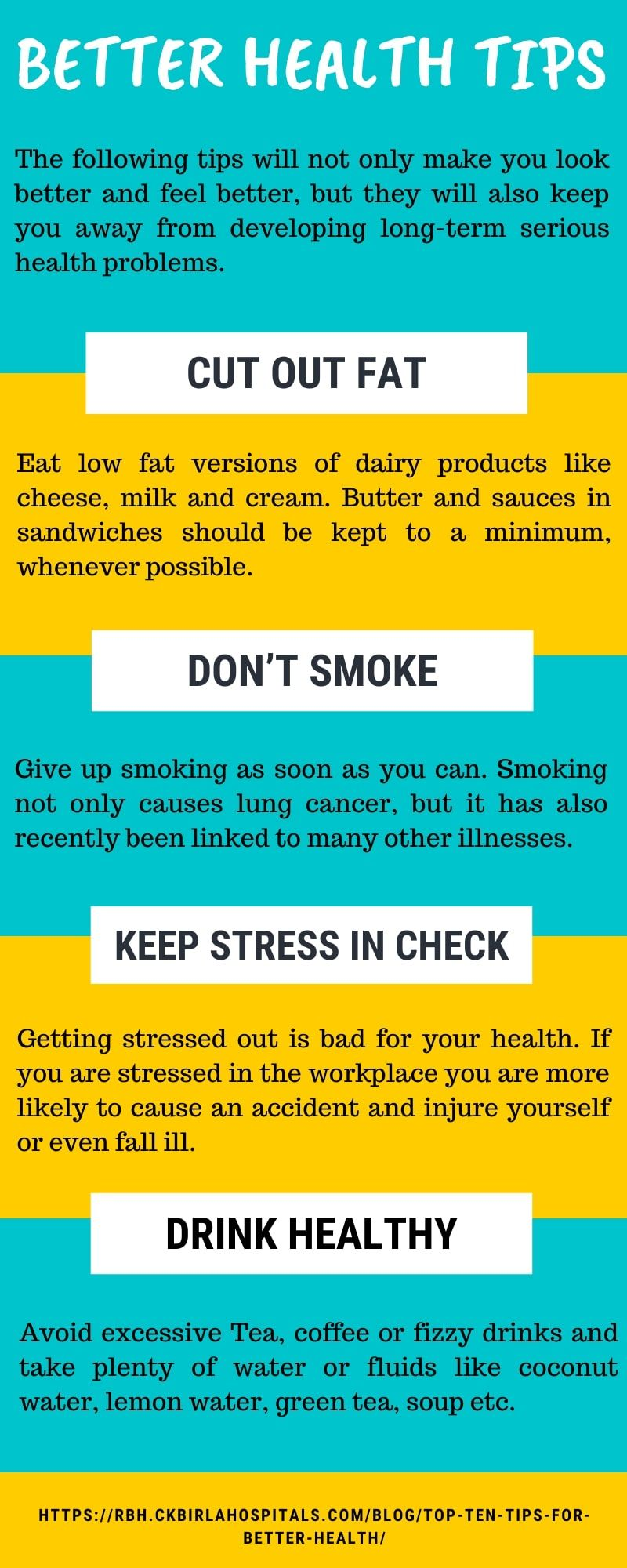 Ten Tips For Better Health Good Health Tips Health And Wellness Health