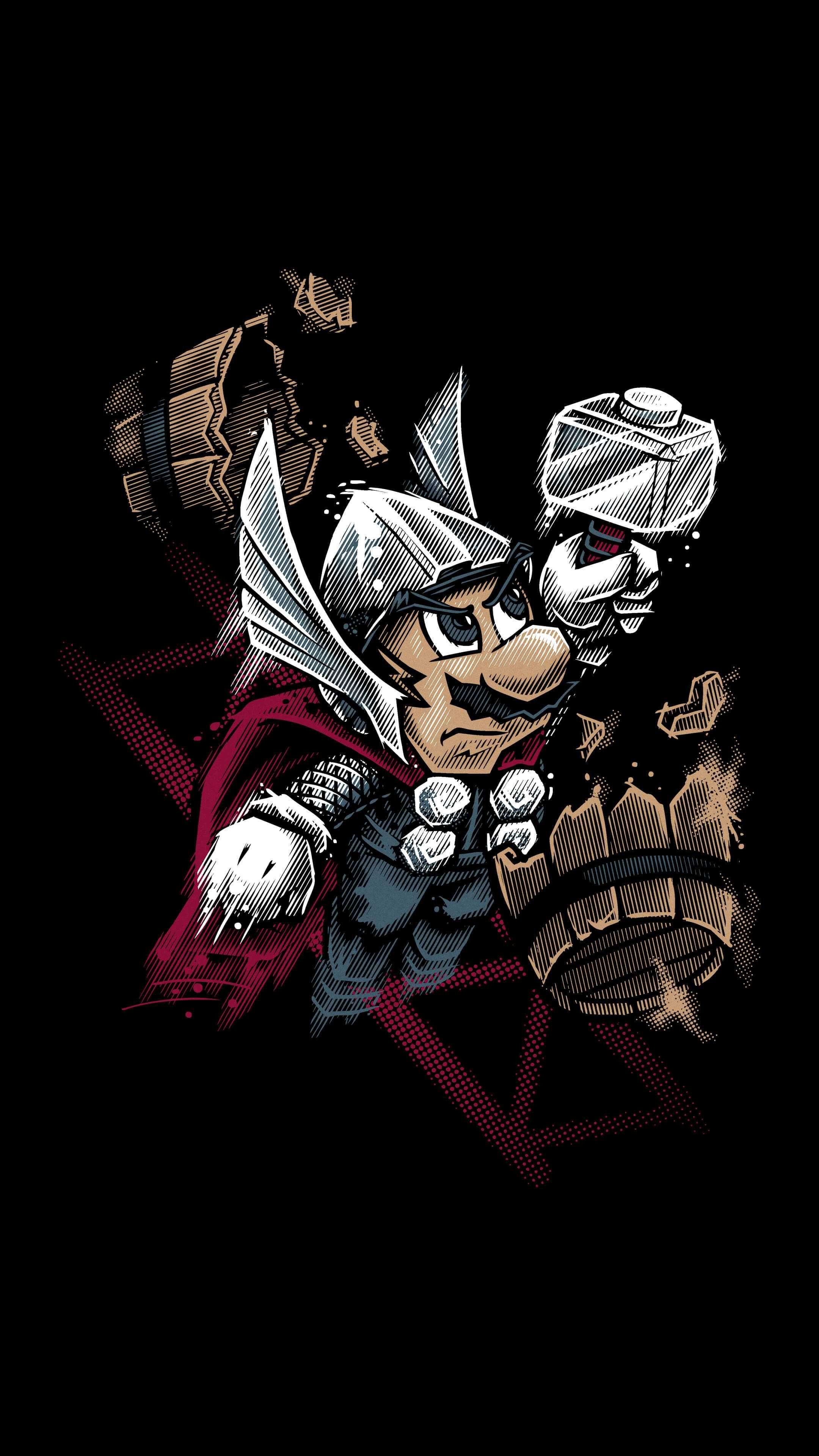 Super Mario Thor Iphone Wallpaper Gaming Wallpapers Thor