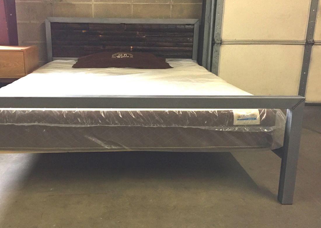 denver colorado industrial furniture modern. Metal Platform Bed With Dark Wood Headboard. Locally Made In Denver Colorado. Industrial Furniture/ Modern Bed. Colorado Furniture