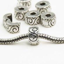 925 Clips Locks Beads Water ripple Stopper Bead Charms  European  Beads  Fit Pandora Bracelets & Bangles B00010(China (Mainland))