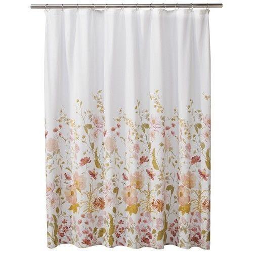 Threshold Wild Flower Shower Curtain Pink Thresholdtrade With