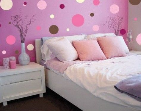 Dots Wall Murals For Girl Bedroom Design | Dream Home | Pinterest