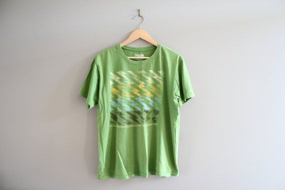 Quicksliver Graphic Tee Zig Zag Pattern Green Slim by Amilialia