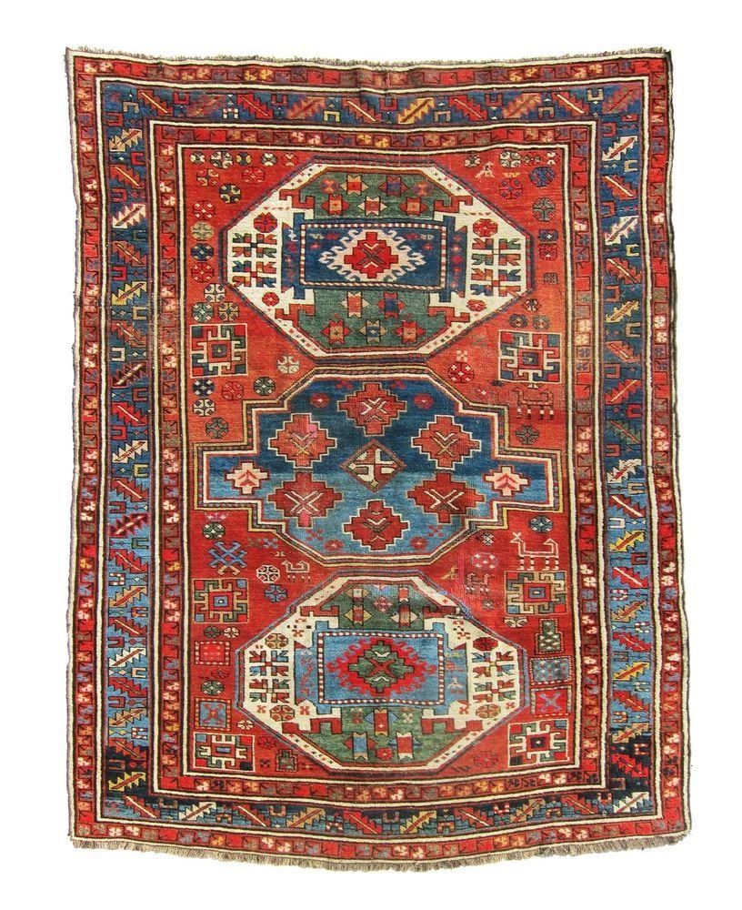 Bargain Gorgeous Antique Bold 1920 Lori Pambak Kazak Caucasian Rug Dehati 1 Persian Rug Antique Persian Rug Rugs