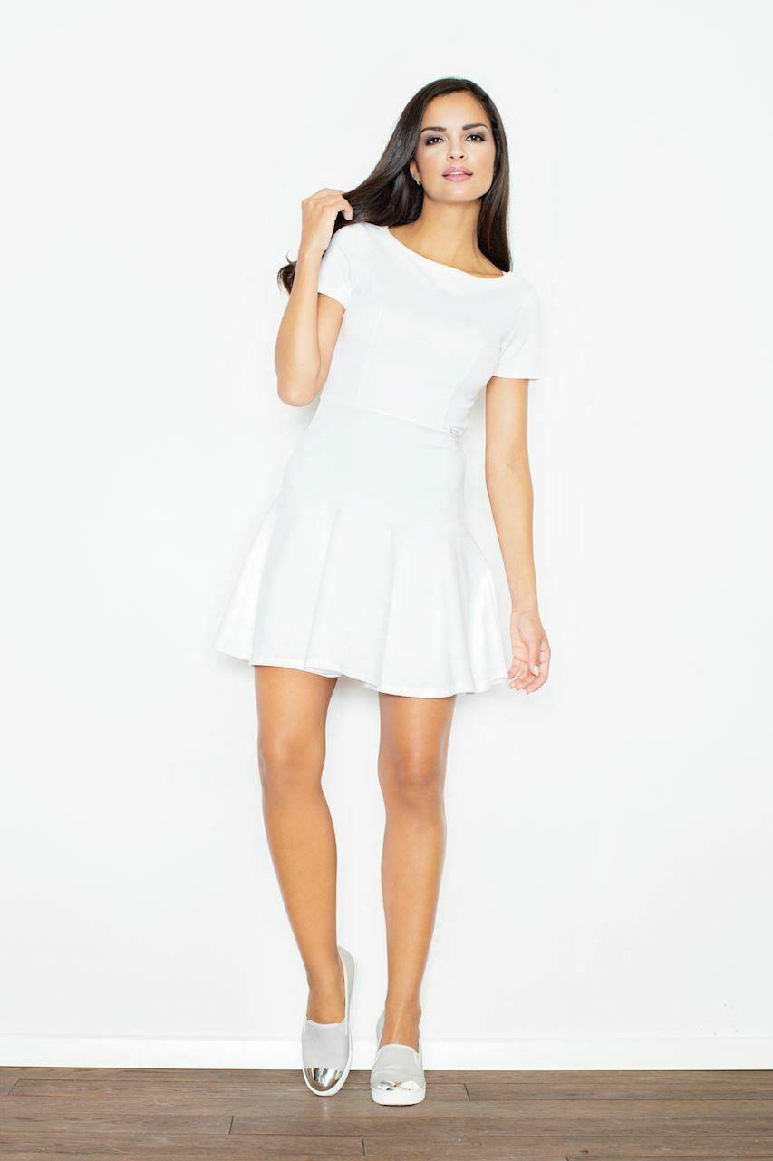 FIGL Damen Kleid Ecru-Weiss