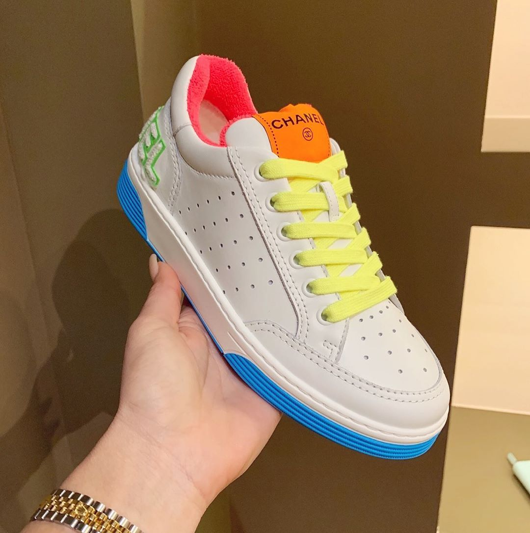 2020 | Neon sneakers, Chanel sneakers
