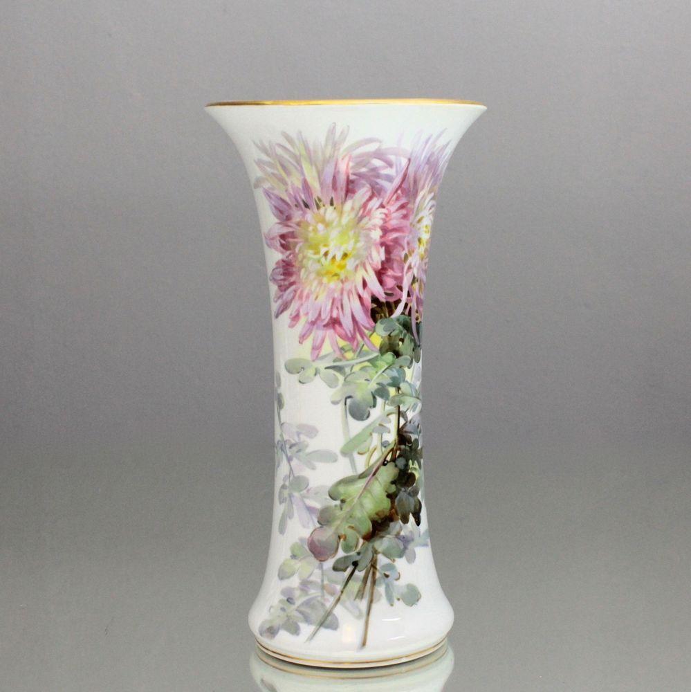 Vase Mit Blumen meissen vase blumen malerei nach prof eduard braunsdorf