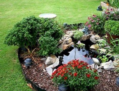 80 Beautiful Backyard Ponds and Waterfalls Garden Ideas Jardín