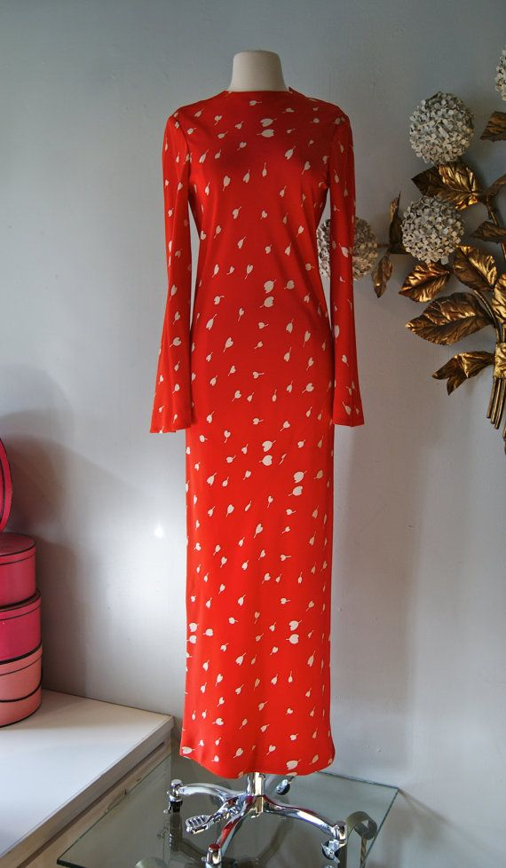 Maybe THE most perfect dress :0 Vintage Halston Dress // 70s Halston ...