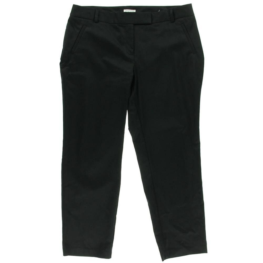 Charter Club Plus Size Straight Leg Pants, Black, 14W