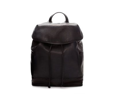 LEATHER RUCKSACK from Zara