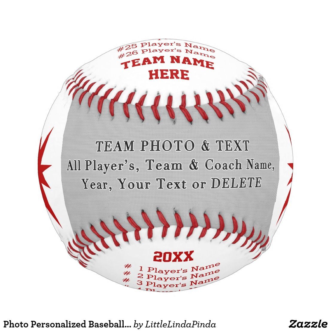Photo Personalized Baseball Gifts For Coach Ball Zazzle Com Gifts For Baseball Players Personalized Baseball Gifts Baseball Coach Gifts