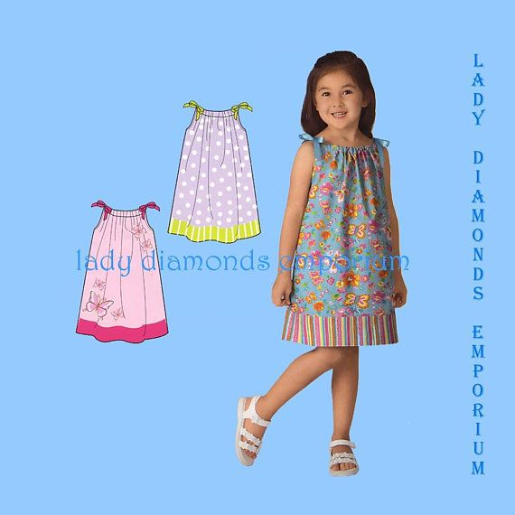Simplicity 2228 Childs Dress Girls Summer Pillowcase Dress Size 3 4