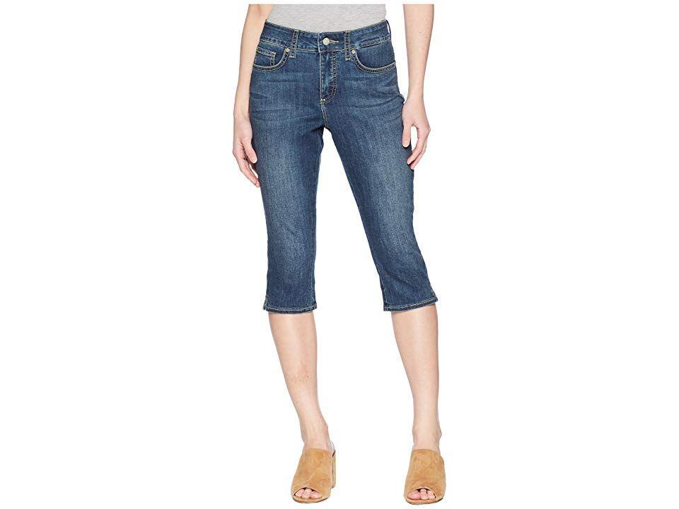 NYDJ Petite Petite Skinny Capris in Zimbali Zimbali Womens Jeans Make waves this season sporting the fashionable NYDJ Capri Pant Fivepocket capris feature a midrise with...