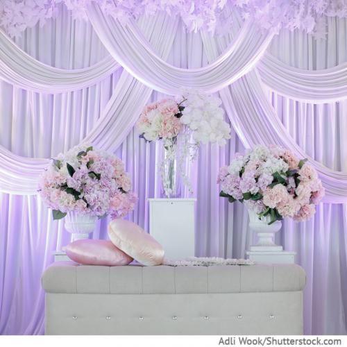 Dekorieren mit Stoffen Eine Hochzeit ohne Farben, Blumen und Deko – ist keine Hochzeit!