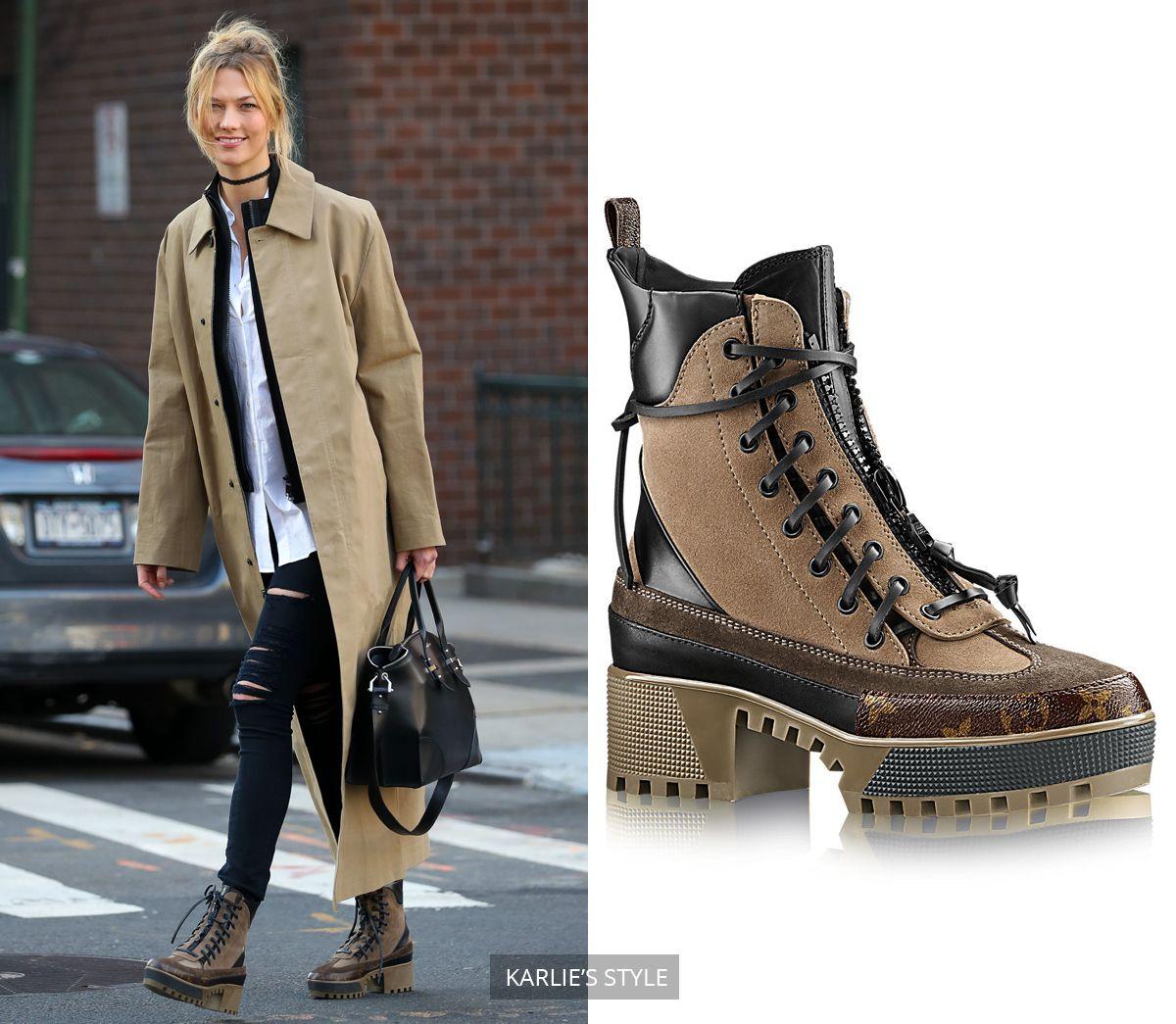 Karlie Kloss - Louis Vuitton Boots