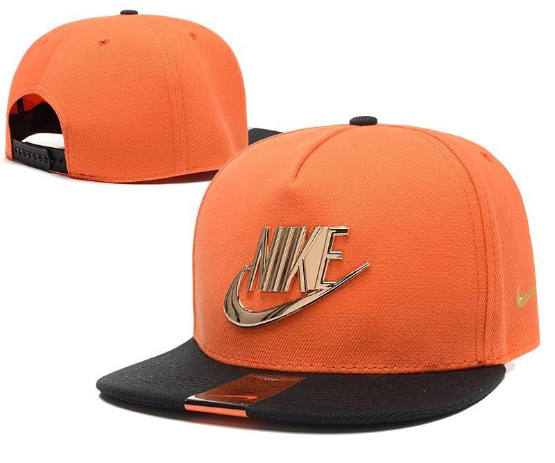 orange nike cap