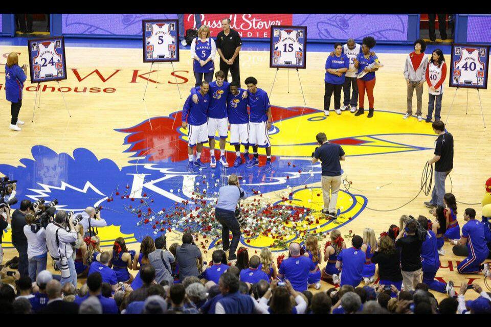 Pregame love!!!! Kansas basketball, Kansas, Elijah johnson
