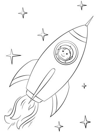 Boy Astronaut Flying In A Space Rocket Coloring Page From Spaceships Category Select F Space Coloring Pages Planet Coloring Pages Coloring Pages Inspirational