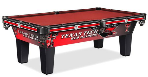 Lovell Company Is Very Proud To Feature The Texas Tech Red Raider Pool Table This Custom Pool Table Combines Billiard Pool Table Pool Table Custom Pool Tables