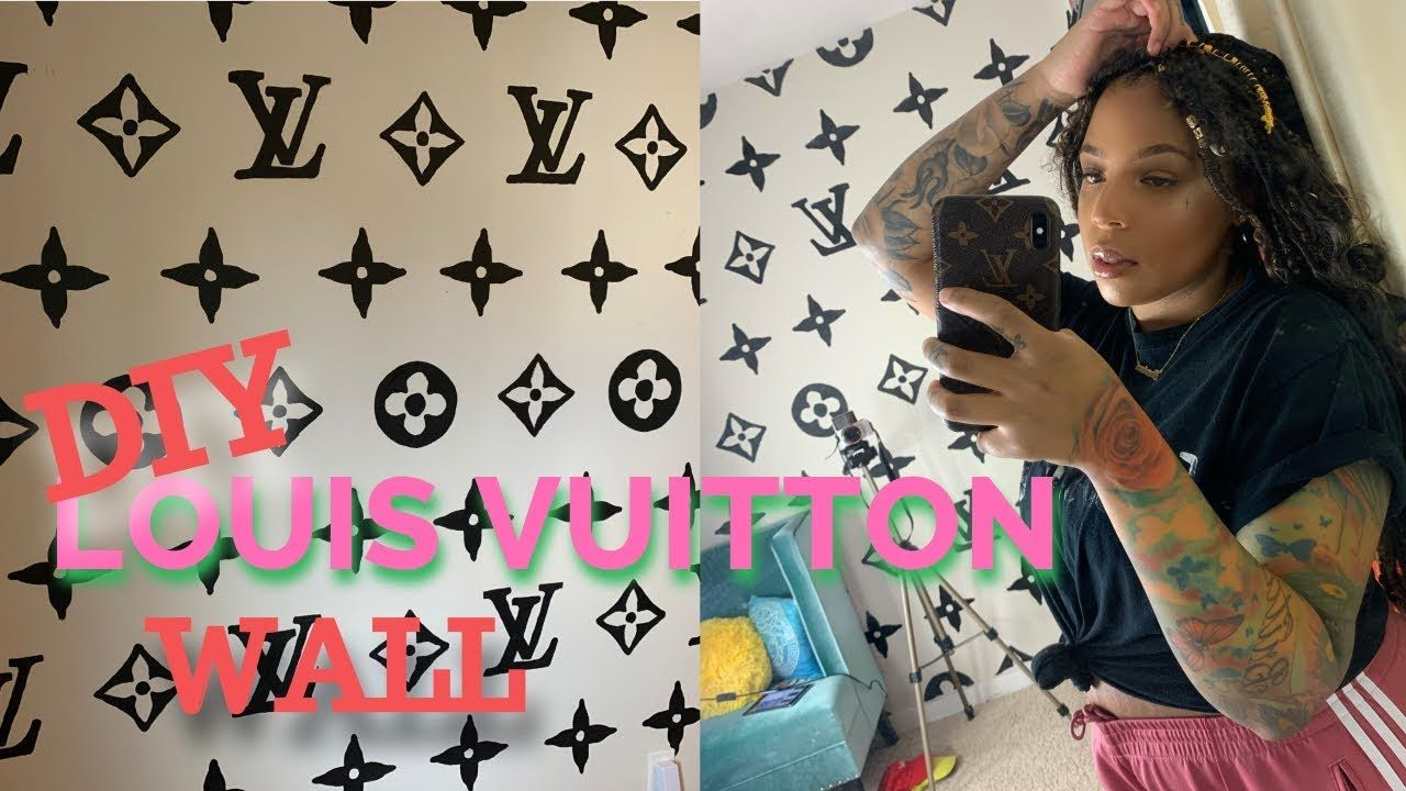 DIY Louis Vuitton Wall for 2 Home Decor (With images