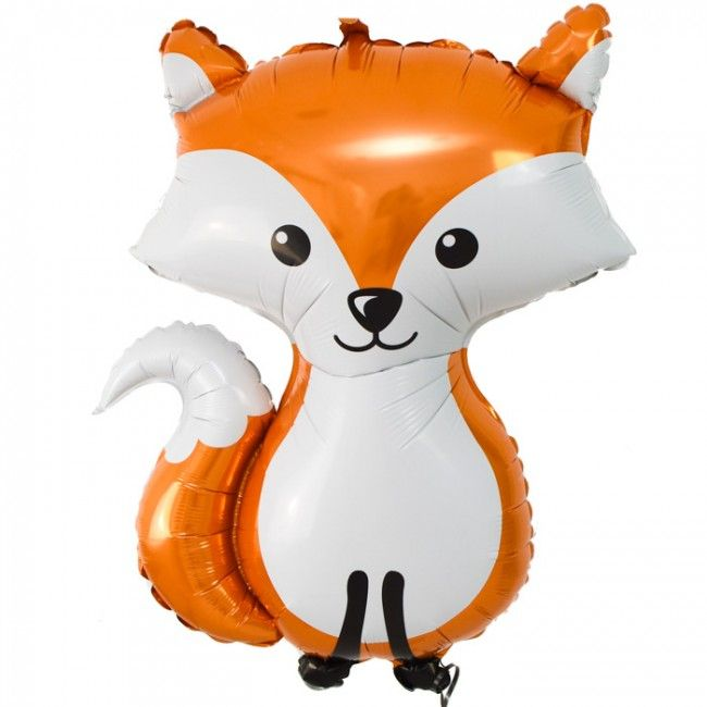 giant woodland fox foil balloon 36 wedding favours and details