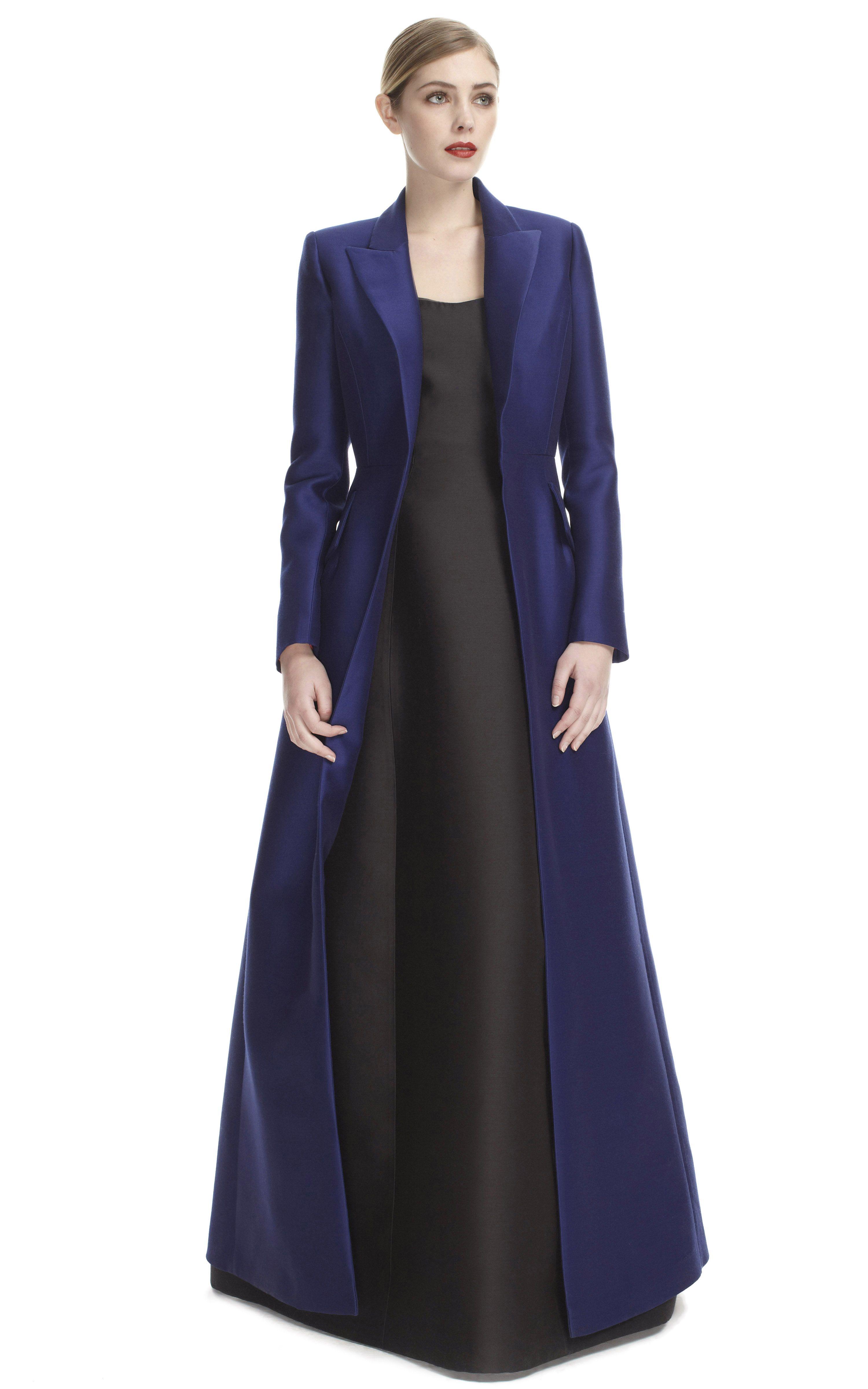 Evening Dress Coat by Alberta Ferretti for Preorder on Moda ...