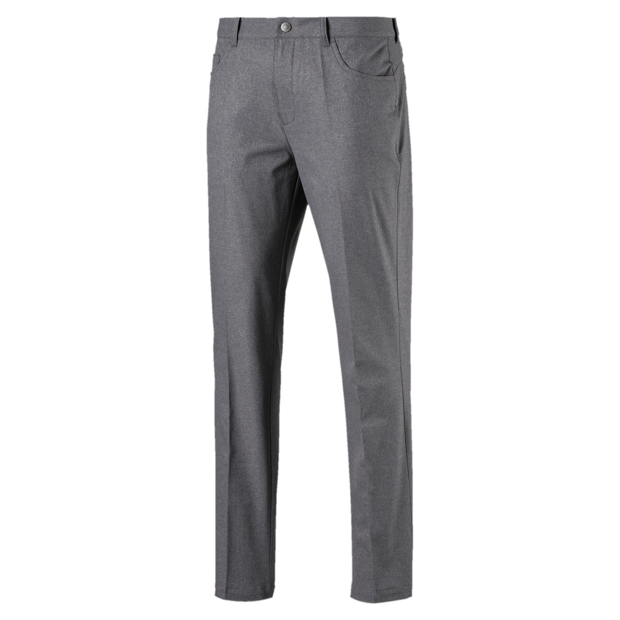 PUMA Jackpot 5 Pocket Heather Mens Golf Pants in Grey size 3336