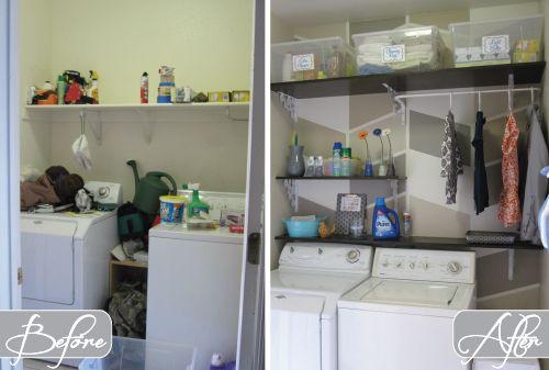 $124 Laundry Room Overhaul- Pass Through to Garage (Custom DIY ...