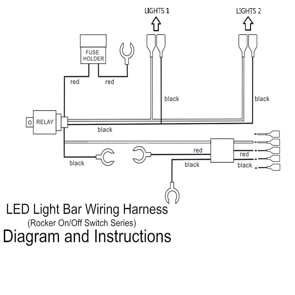 small resolution of 5 pins led light bar driving switch relay rocker wiring in