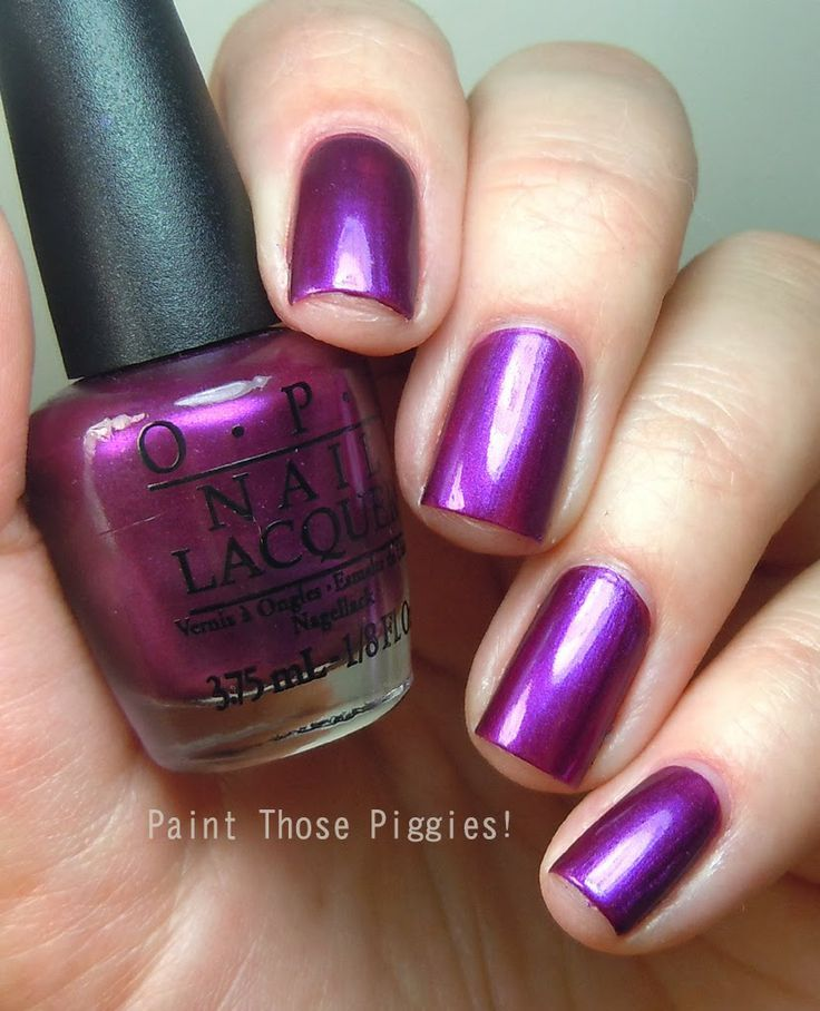OPI metallic purple | solid color nails | Nails, Nails 2017, Solid ...