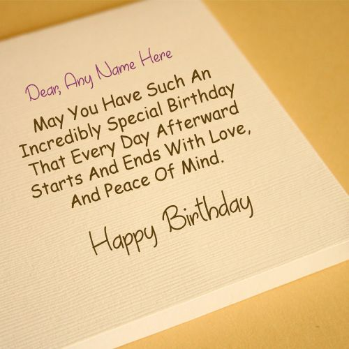 Friend Name Write Birthday Greeting Card Picture Online Editor Photo With Sent Quotes Image DP