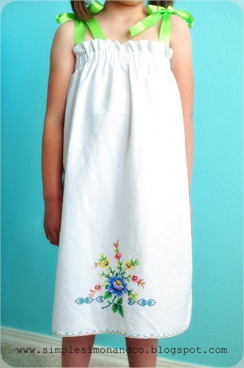Guest Post- A Vintage Pillowcase Dress Tutorial | sew: kids ...