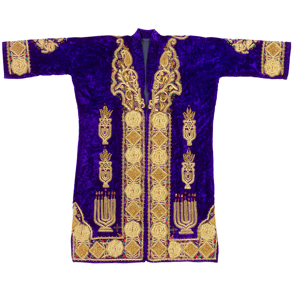 3d654866ef BUKHARAN JEWISH MAN S ROBE last third of 20th C Bukharan embroiderers were  famous for their elaborate