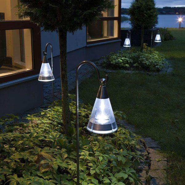 Lampe solaire ASSISI en inox à lumière LED   jardin   Solar ...